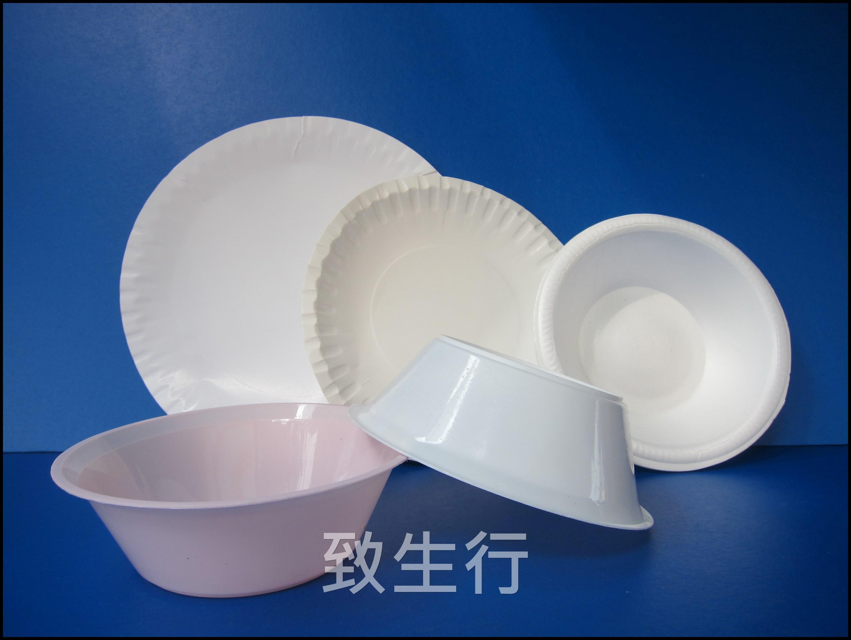 紙碟, 膠碗, 膠碟