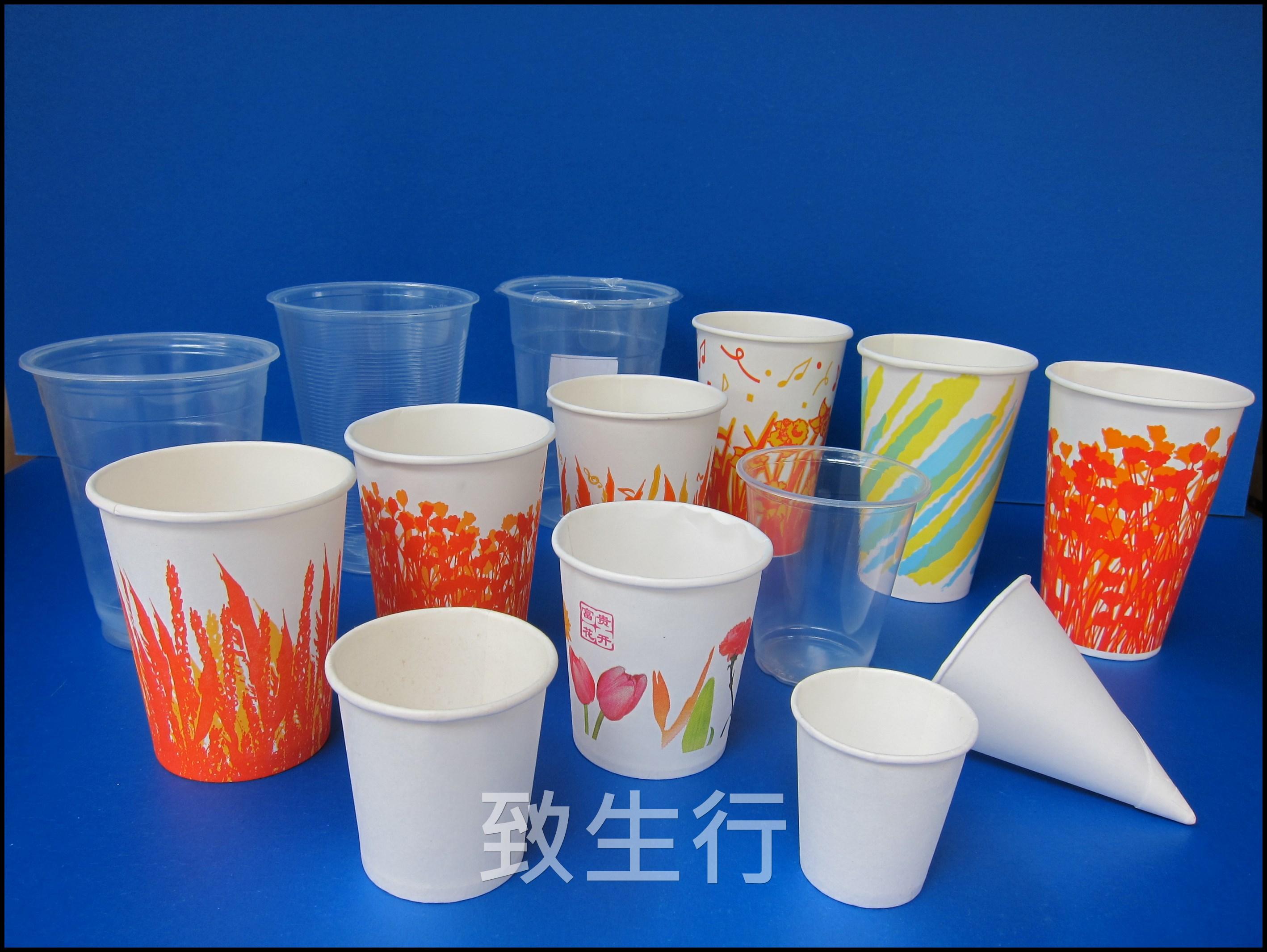 冷熱飲紙杯, 膠杯