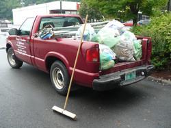 Jim's truck full of junk