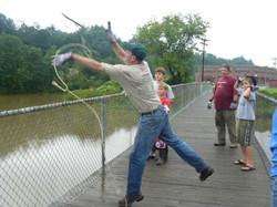 Al Reardon hefts the hook