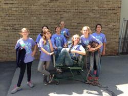 Moria Farnsworth's kids post-cleanup 2015