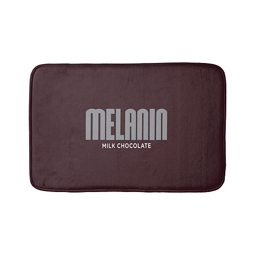 """Melanin Hershey Bar"" Bath Mat"
