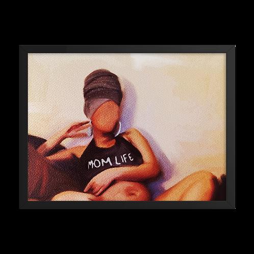 """""""Mom Life"""" Framed Print"""