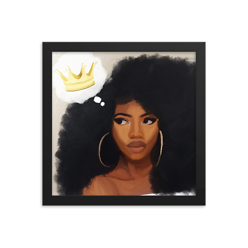 """""""Remember You're A Queen"""" Framed Print"""