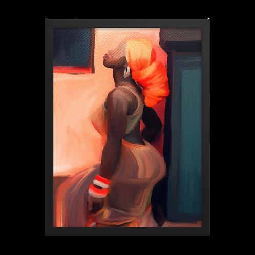 """Turban Dreams"" Framed Print"