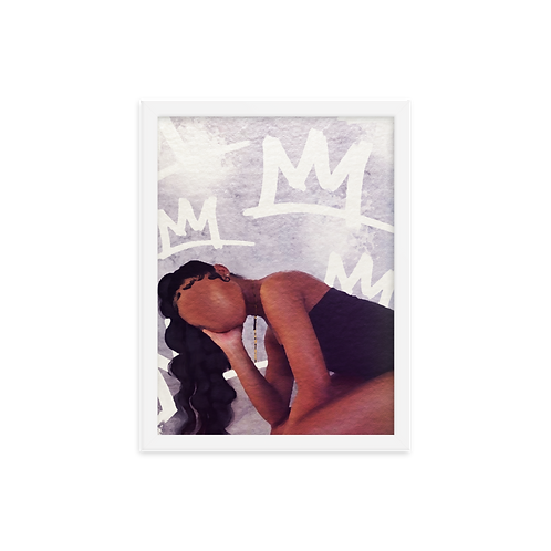 """""""Queen On Her Throne"""" Framed Print"""