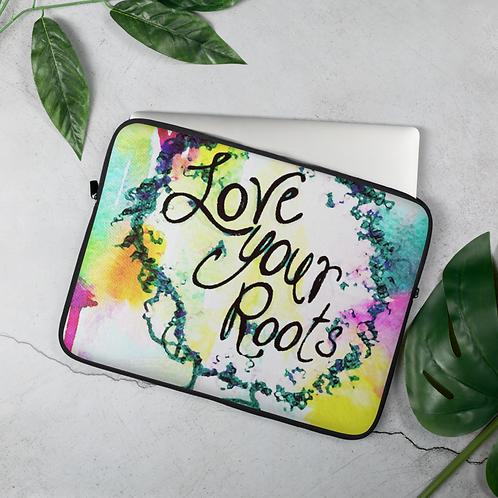 """Love Your Roots"" Laptop Case"