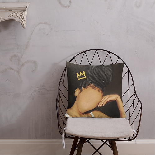 """Melanin On Loc"" Pillow"