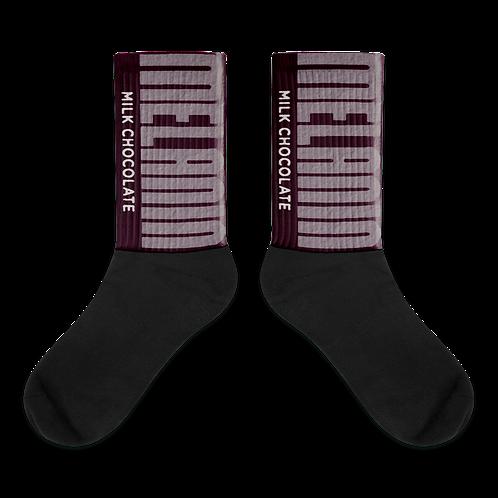 """Melanin Hershey Bar"" Socks"