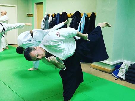 Первая в 2020 году тренировка айкидо.