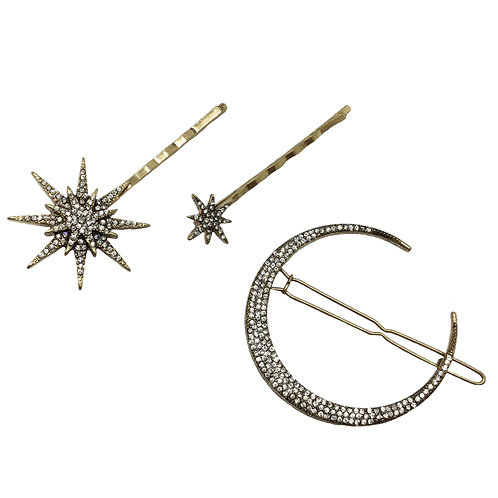 Star and Moon Pin Set