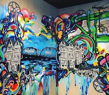 Luv1 - LANK - mural Trenton Starbucks
