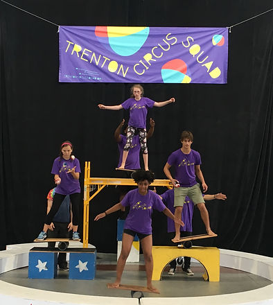 Live circus showcase in Mill Hill Park! Trenton Circus Squad teaches young people how to cooperate, push themselves and serve their community – all through practice of circus arts.