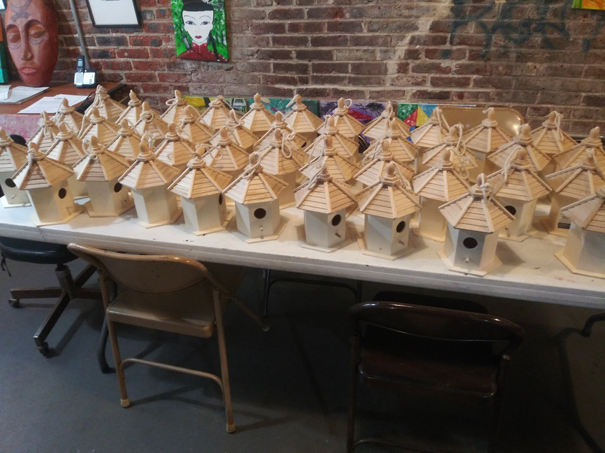 Paint your own amazing birdhouse with the Trenton Community A-TEAM!