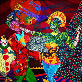 """Anxiety Side Show"": the beautiful and chaotic world of Scott Lewis - painter, mixed media artist and performer."