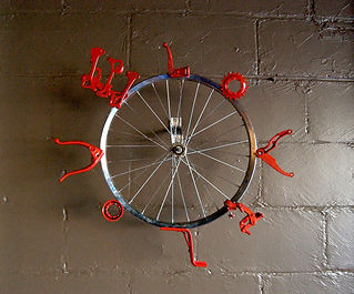Kinetic sculpture, modified bicycles