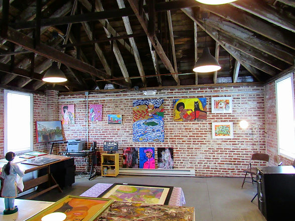 The art gallery and design studio of the Trenton Community A-Team, housed in a historic converted horse carriage house. Features original artworks in a variety of media.
