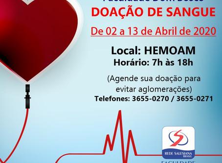 FSDB em parceria com HEMOAM realizam campanha de doação de sangue