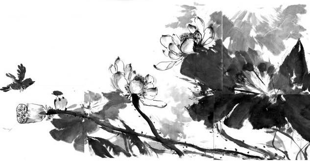 Ink Painting - Water Lily
