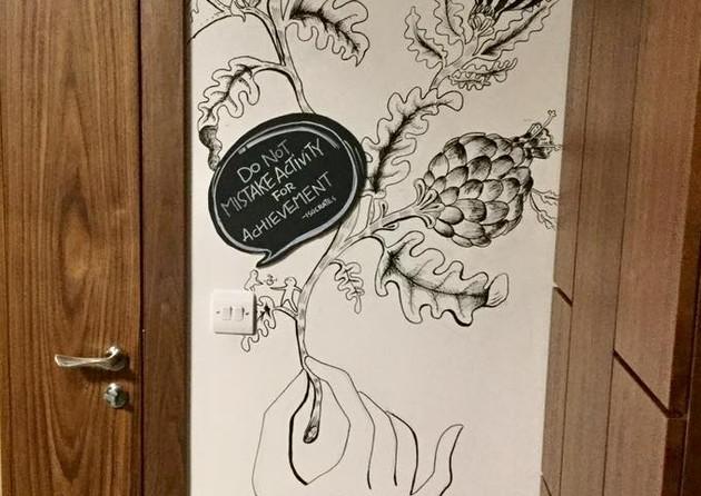 Wall Painting Sketching - Angelia Yingge Xu
