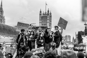 Parliament and protesters