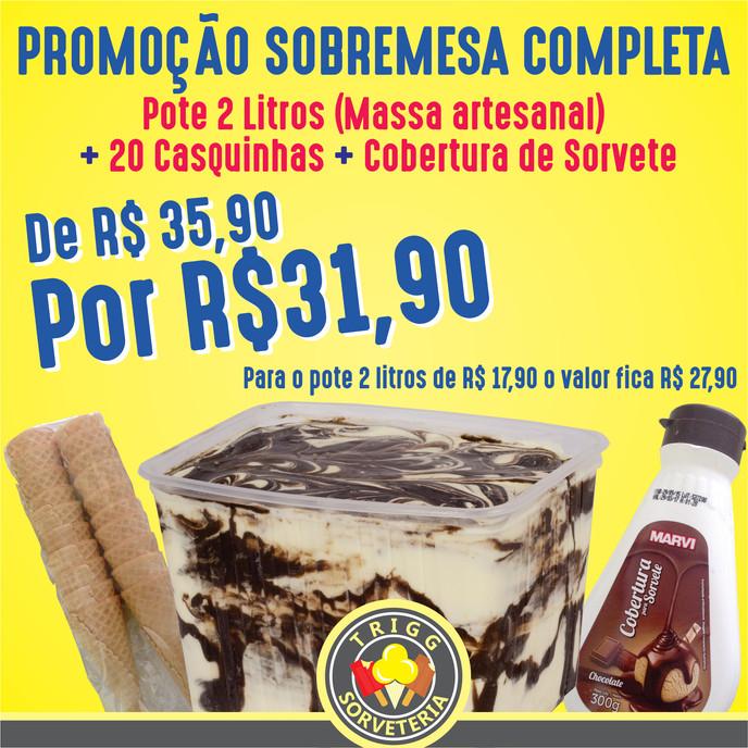 Promoção Sobremesa Completa continua!!!