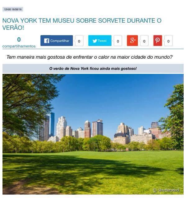 Você que esta passando por Nova Iorque que tal dar uma paradinha no museu do sorvete em!!!