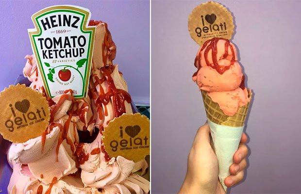 Sorvete de Ketchup! Você experimentaria? Ed Sheeran aprovou esse post! :D