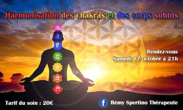 Harmonisations de chakras et des corps s