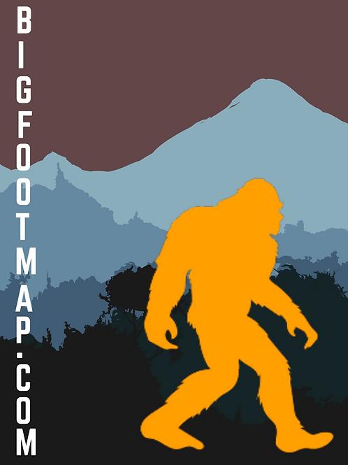 Bigfoot Map Sticker