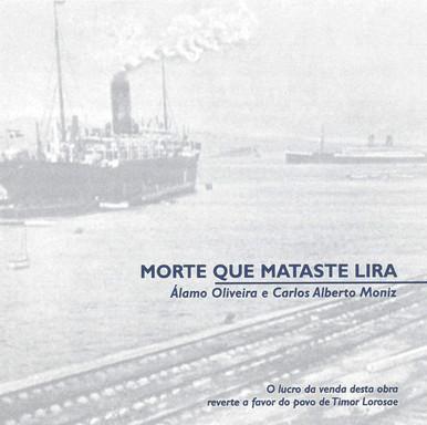 """Morte que mataste lira [Registo sonoro] / Álamo Oliveira [texto] ; Carlos Alberto Moniz [música, arranjos e direção]. - [S. l.] : Estúdio Goya, [1999]. - 2 CDs. - Disco I – 1.º Acto: I """"Morte que mataste lira""""; II """"Com despeito e uma flor""""; III """"Promessas e vazios""""; IV """"Mais promessas e vazios""""; V """"Canção para imaginar o amor""""; VI """"Partir para ficar""""; VII """"Do silêncio ao grito"""". - Disco II – 2.º acto: VIII """"Enchidos & facturas""""; IX """"Onde pousa o olhar""""; X """"Carta de chamada""""; XI """"Cais perdido""""; XII """"O direito ao sonho"""".  Col. particular Álamo Oliveira"""