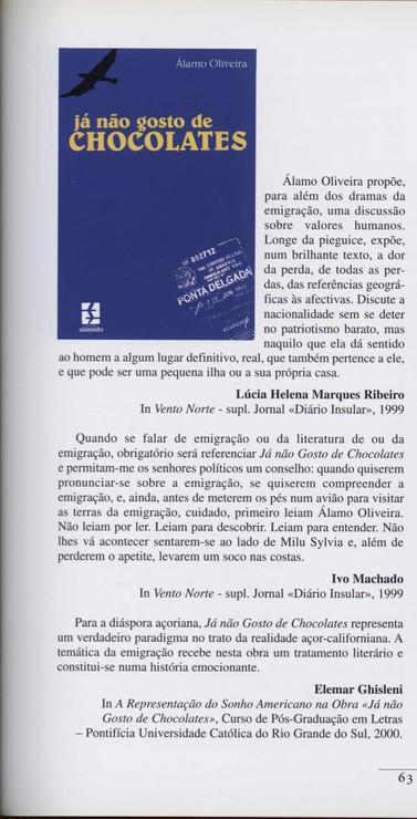 """Já não gosto de chocolates / Álamo Oliveira. - Lisboa : Salamandra, 1999. - 209 p. ; 21 cm. - (Garajau ; 56). - ISBN 972-689-145-0  Imagem retirada do livro """"O meu coração é assim""""."""