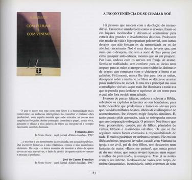 """Com perfume e com veneno / Álamo Oliveira. - Lisboa : Salamandra, imp. 1997. - 148 p. ; 21 cm. - (Garajau ; 38). - ISBN 972-689-113-2  Imagem retirada do livro """"O meu coração é assim""""."""