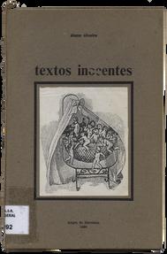 Textos inocentes / Álamo Oliveira. - Angra do Heroísmo : A. Oliveira, 1986. - 31, [1] p. ; 22 cm