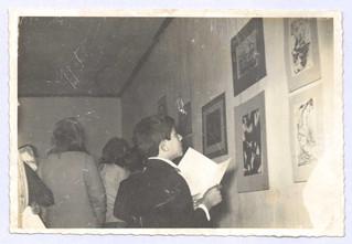 Exposição/relâmpago por ocasião da Primeira Semana de Cultura Popular no Raminho, 1970.   Col. particular Álamo Oliveira
