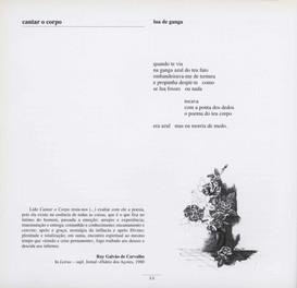 """Cantar o corpo : 1973-1975 / Álamo Oliveira. - [S.l.] : A. Oliveira, imp. 1979. - 67, [3] p. : il. ; 20 cm  Imagem retirada do livro """"O meu coração é assim""""."""