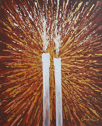 "THE SHABBOS CANDLES 16"" X 20"""