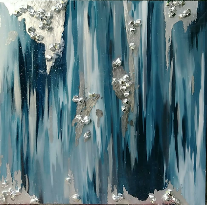 """ABSTRACT BLUE 24"""" x 24"""""""