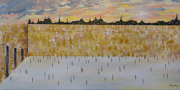"SUNSET BY THE KOSEL 24"" x 48"""