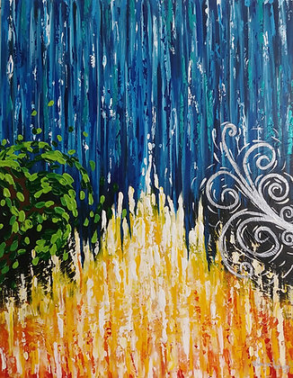 """THE 4 ELEMENTS OF EARTH 24"""" x 30"""""""