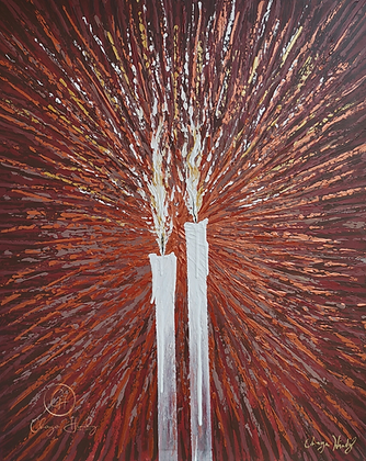 "THE SHABBOS CANDLES, LEGACY 24"" X 30"""