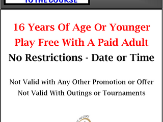 Take A Kid To The Course -Kids Play For Free