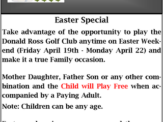 Easter Weekend Special