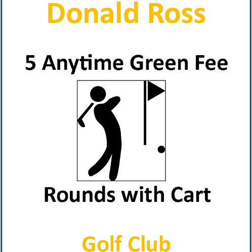 Five (5) Anytime Round of Golf with Cart