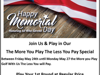 Check Out Our Memorial Day Special