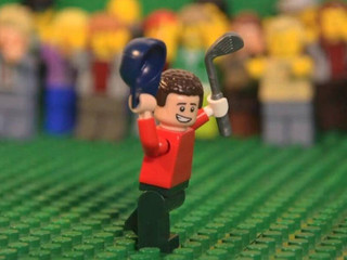Lego gives Justin Rose's 1998 eagle its due Golfer's kids impressed as chip-in eagle immorta