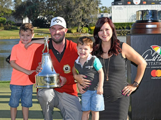 Marc Leishman's win a family affair, two years after wife Audrey nearly died
