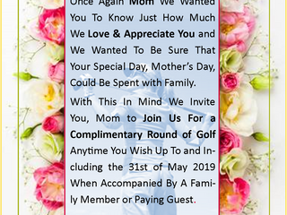 Celebrate Mother's day at Donald Ross Golf Club