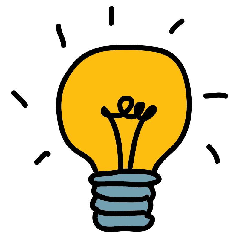 An animated lightbulb