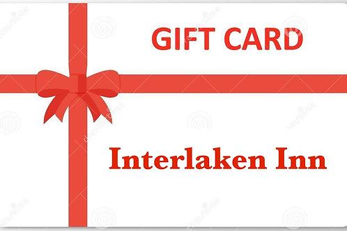 Give the gift of 1 overnight stay at Interlaken Inn (Berkshires) value $240